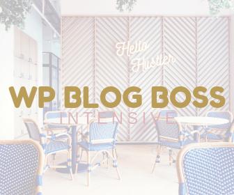WP Blog Boss Intensive